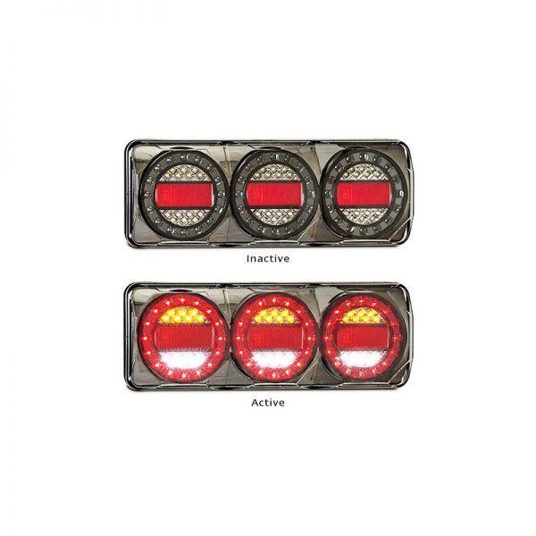 LED Autolamps - Maxilamp 3 Stop/Tail - Indicator - Reverse